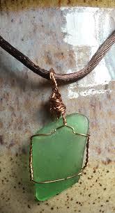 glass jewelry necklace images Sea glass jewelry copper jewelry wire wrap pendant glass jpg