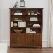 Oak Bookcases With Drawers Home Decorators Collection Artisan Medium Oak Storage Open