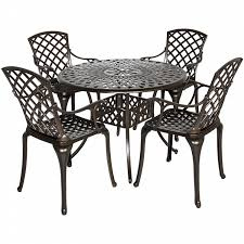 Aluminum Patio Dining Set Best Choice Products 5 Cast Aluminum Patio Dining Set W 4