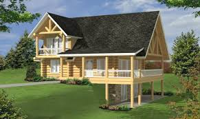 inspiring log cabin house plans with basement 22 photo building