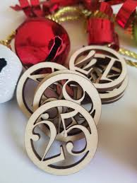 calendar circle number wooden cut outs number ornaments