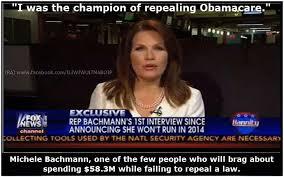 Michele Bachmann Meme - michelle bachmann idiot republicans quotes notes teaparty