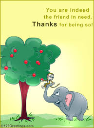 indeed a friend free thank you ecards greeting cards 123