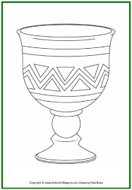 Kwanzaa Colouring Page Unity Cup Colouring Page Kikombe Cha Cup Coloring Page
