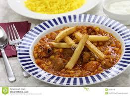 cuisine iranienne gheimeh de khoresh cuisine iranienne photo stock image 35730118