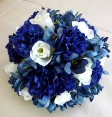 blue carnations bridal bouquets and bridal party flowers blue carnations white