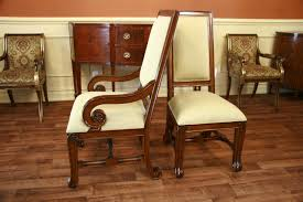 Large Mahogany Dining Room Chairs Luxury Chairs Upholstered - Cushioned dining room chairs