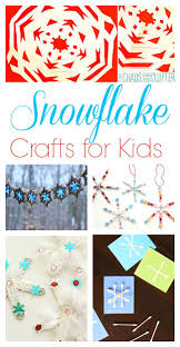 snowflake crafts and activities for kids