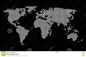 Vector World Map Vector World Map Round Pixel Dots Stock Vector Image 78179089