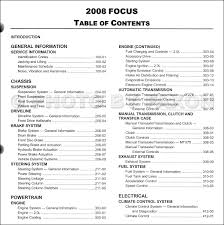 2008 ford focus repair shop manual original