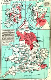 Wales England Map by Medieval Britain General Maps