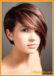 short hairstyles with side fringe short haircuts with long side