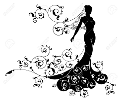 wedding design a silhouette wedding design with the in bridal dress