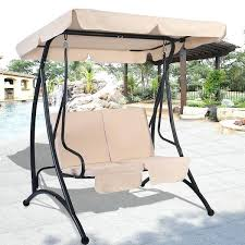 2 person canopy swing beige 2 person canopy swing chair patio