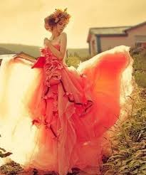 runway fashions weddings fall autumn wedding color orange