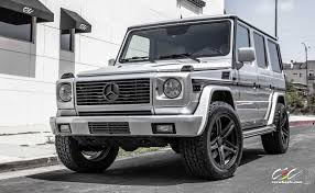 matte silver jeep mercedes benz g500 with nitto terra grappler tires u0026 c881 forged