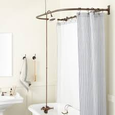 clawfoot tub shower conversion kit d style shower ring bathroom oil rubbed bronze porcelain head