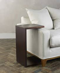 couch arm coffee table slide in side table over couch arm rests design features