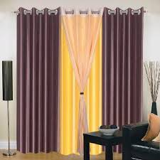 Yellow Brown Curtains Iws Polyester Eyelet Brown Yellow Curtains For Doors Curtains