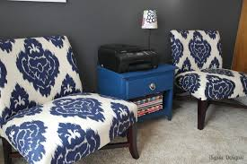 Ikat Armchair Stunning Blue Accent Chair Modern Design Living Room With Ikat