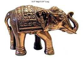 large metal elephant statue 13 5 x 20 inch the indian connection