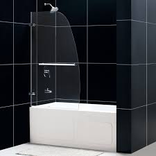Shower Hinged Door Dreamline Shdr 3534586 0 Aqua Uno Single Panel Hinged Tub Shower