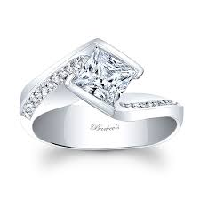 white gold princess cut engagement ring barkev s princess cut engagement ring 8032l
