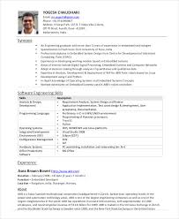 Sample Resume For 2 Years Experienced Software Engineer by Software Engineer Resume Example 9 Free Word Pdf Documents