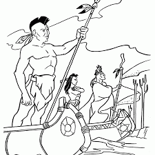 coloring american indian coloring pages