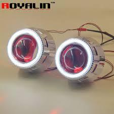 xenon arc l supplier royalin projector lens headlights angel eye devil eyes white bule
