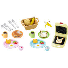 sylvanian families cuisine sylvanian families breakfast set 10 00 hamleys for toys and