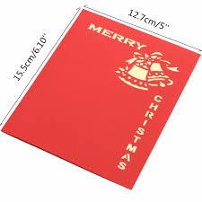 3d handmade greeting card jingle bell pop up invitation