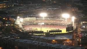 Fenway Park Seating Map Fenway Park Aerial At Night Boston Stock Video 12174860