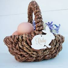 personalized easter egg baskets personalised easter egg hunt basket by seahorse