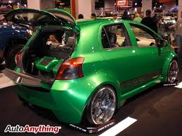 toyota yaris paint bright green toyota yaris sema 2008 autoanything coupons