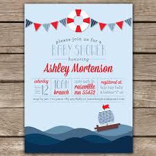 nautical baby shower invitations nautical shower ii custom digital baby shower invitation
