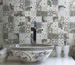 Bathroom Tile Backsplash Ideas Patchwork Backsplash For Country Style Kitchen Ideas Homestead