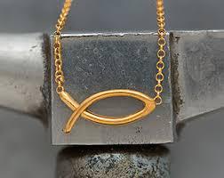 jesus fish necklace jesus fish necklace etsy