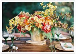 Fall Floral Decorations - rustic fall wedding ideas 100 layer cake