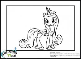 princess cadence pony cute coloring pages fun
