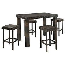 Outdoor Bar Table And Stools Modern Outdoor Bar Sets Allmodern