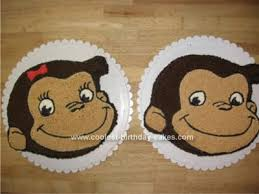 cool homemade curious george birthday cakes