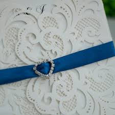 royal blue wedding invitations laser cut wedding invitations with royal blue rhinestone