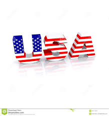 American Flag In Text Usa Flag 3d Text Stock Illustration Image Of States 12117401