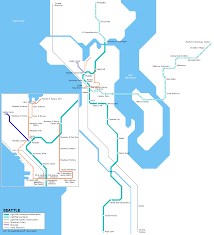 Seattle Districts Map by Urbanrail Net U003e Usa U003e Washington U003e Seattle Light Rail