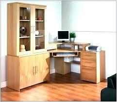 Corner Computer Desk With Shelves Corner Desks With Storage Small Corner Computer Desk With Storage