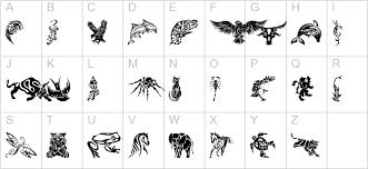 tribal animals designs 3d fonts animals fonts brush