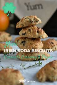 mini irish soda biscuits with currants caraway and thyme omg