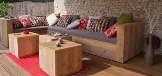 fabrication canapé palette bois canapé d angle en palette