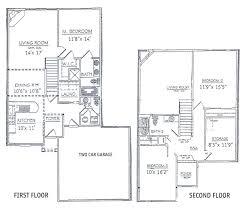 2 story floor plans with garage floor 2 story floor plans